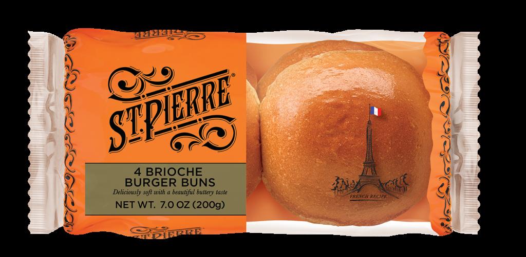 St Pierre 4 Brioche Burger Buns