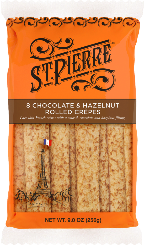 St Pierre 8 Chocolate & Hazelnut Rolled Crepes