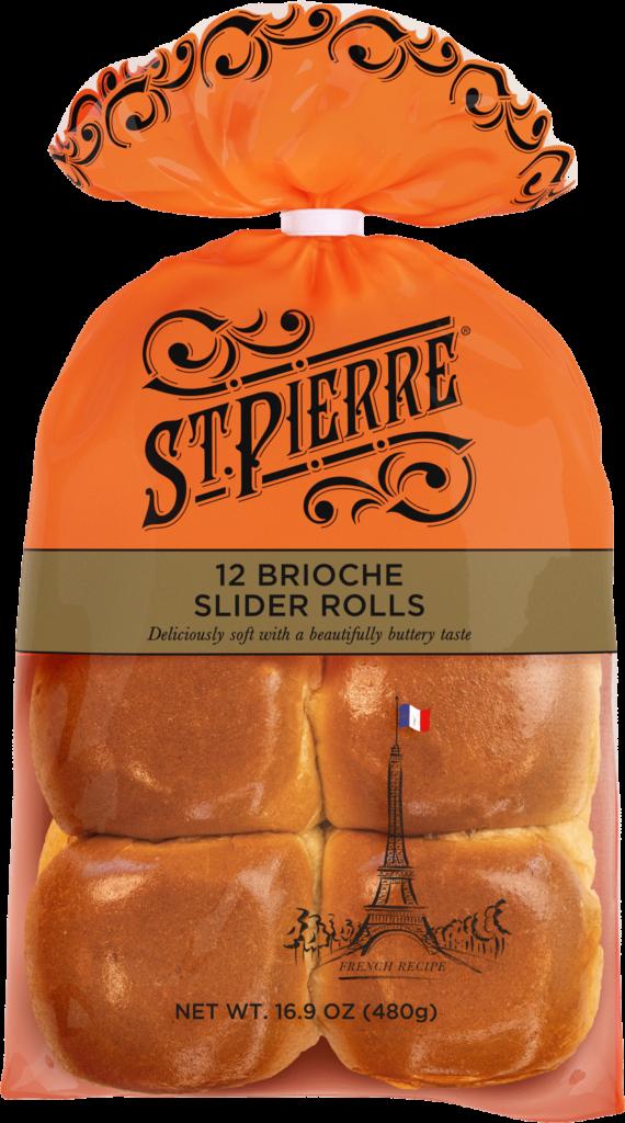 St Pierre 12 Brioche Slider Rolls