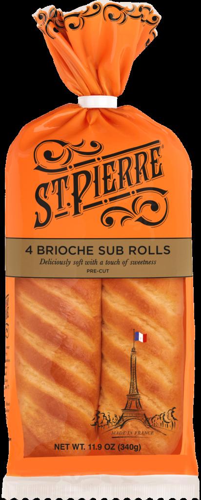 St Pierre 4 Brioche Sub Rolls